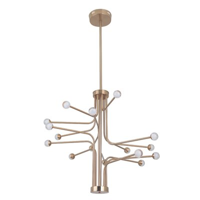 Dittrich 16-Light LED Sputnik Chandelier Finish: Satin Brass