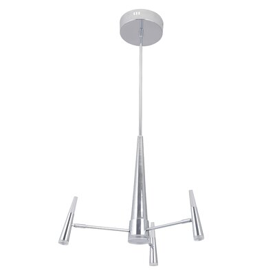 Everdeen 4-Light LED Sputnik Chandelier Finish: Chrome