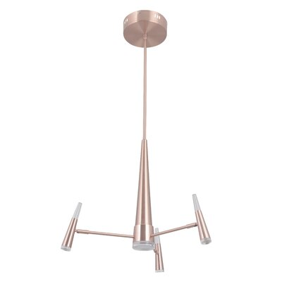 Everdeen 4-Light LED Sputnik Chandelier Finish: Satin Rose Gold
