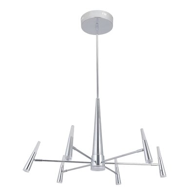 Everdeen 7-Light LED Sputnik handelier Finish: Chrome