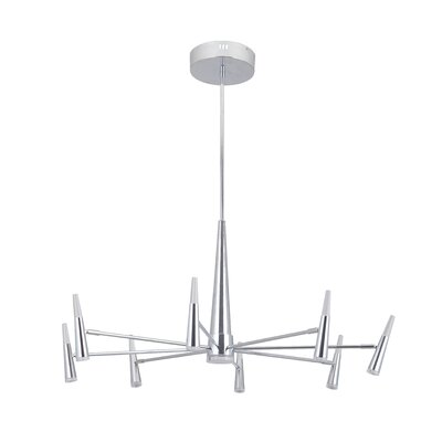 Everdeen 9-Light LED Sputnik Chandelier Finish: Chrome