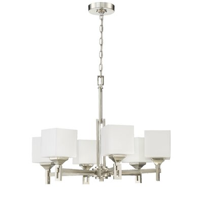 Nippal 6-Light Shaded Chandelier Finish: Brushed Polished Nickel