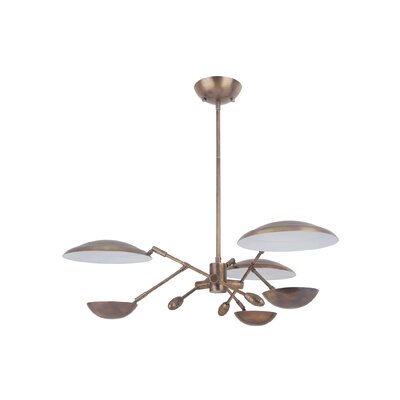 Galante 3-Light LED Sputnik Chandelier Finish: Patina Aged Brass
