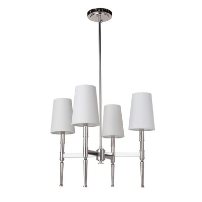 Quinlan 4-Light Shaded Chandelier Finish: Polished Nickel