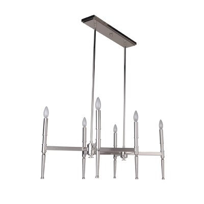 Quinlan 6-Light Chandelier Finish: Polished Nickel