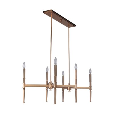 Quinlan 6-Light Chandelier Finish: Satin Brass
