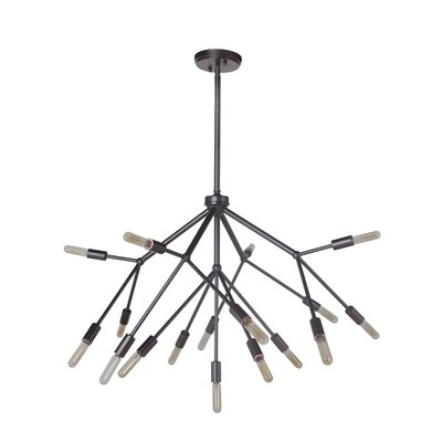 Cuddy 17-Light Sputnik Chandelier Finish: Oiled Bronze