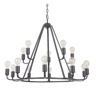 Lysia 15-Light Candle-Style Chandelier Finish: Oil Bronze Gilded