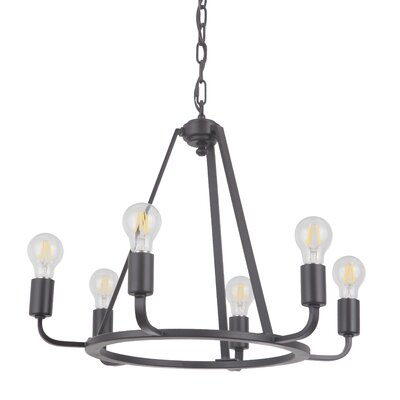 Lysia 6-Light Candle-Style Chandelier Finish: Oil Bronze Gilded