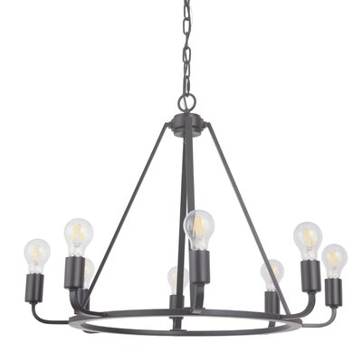 Vera 8-Light Candle-Style Chandelier Finish: Oil Bronze Gilded