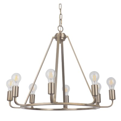 Vera 8-Light Candle-Style Chandelier Finish: Satin Brass
