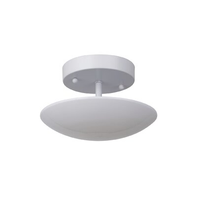 Kelen 1-Light LED Semi Flush Mount Finish: White