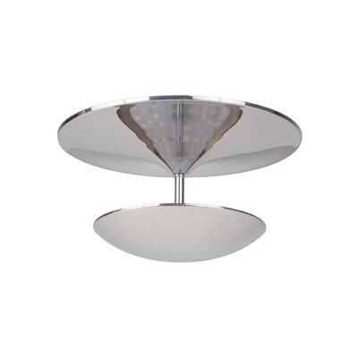 Kelen 1-Light LED Semi Flush Mount Finish: Polished Nickel