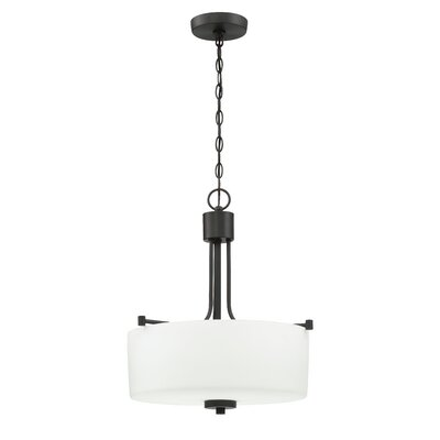Rosalin 3-Light Drum Pendant Finish: Aged Bronze Brushed