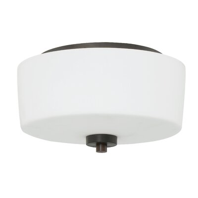 Rosalin 2-Light Flush Mount Finish: Aged Bronze Brushed