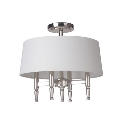 Quinlan 4-Light Semi Flush Mount Finish: Polished Nickel