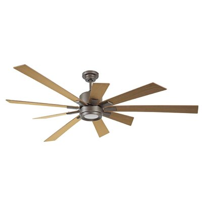 72 Granier Ceiling Fan Kit with Remote Finish: Espresso with Rustic Oak Blades