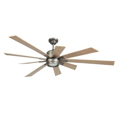72 Granier Ceiling Fan Kit with Remote Finish: Pewter with Rustic Oak Blades