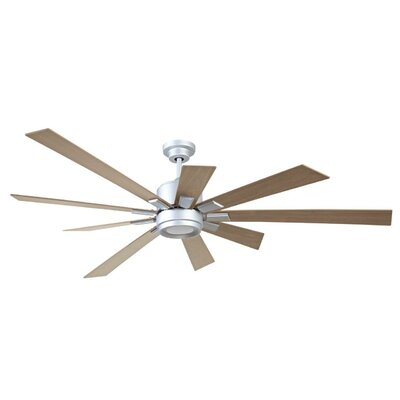 72 Granier Ceiling Fan Kit with Remote Finish: Titanium with Rustic Oak Blades