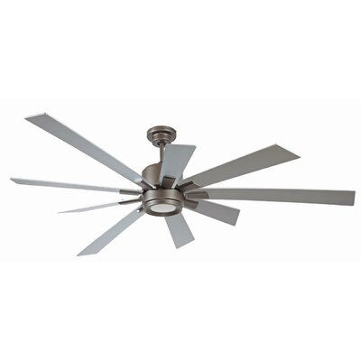 72 Granier Ceiling Fan Kit with Remote Finish: Espresso with Titanium Blades