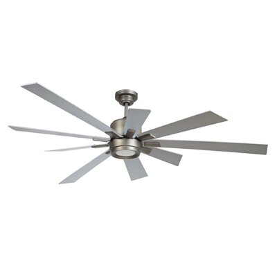 72 Granier Ceiling Fan Kit with Remote Finish: Pewter with Titanium Blades