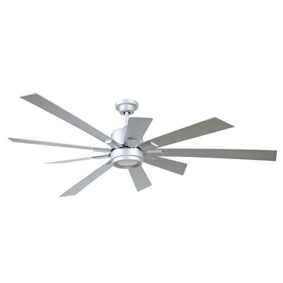 72 Granier Ceiling Fan Kit with Remote Finish: Titanium with Titanium Blades