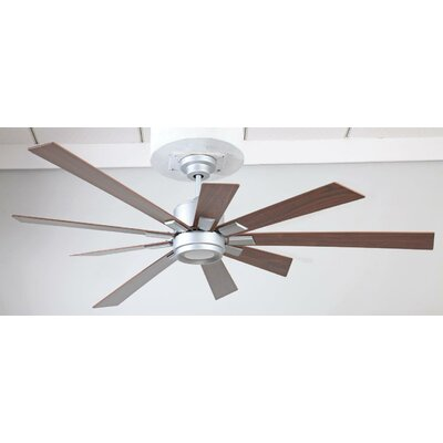72 Granier Ceiling Fan Kit with Remote Finish: Titanium with Walnut Blades