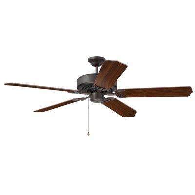 52 Legere 5 Blade Ceiling Fan Finish: Aged Bronze Brushed with Walnut Blades