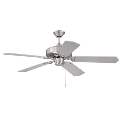52 Legere 5 Blade Ceiling Fan Finish: Brushed Nickel