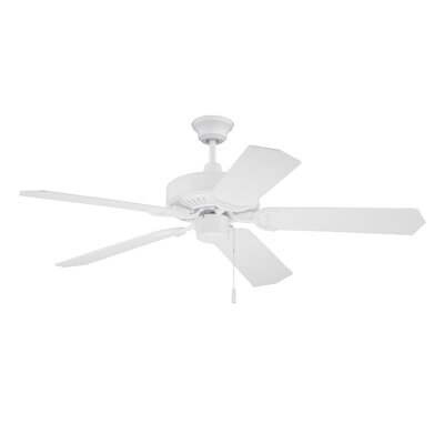 52 Legere 5 Blade Ceiling Fan Finish: White