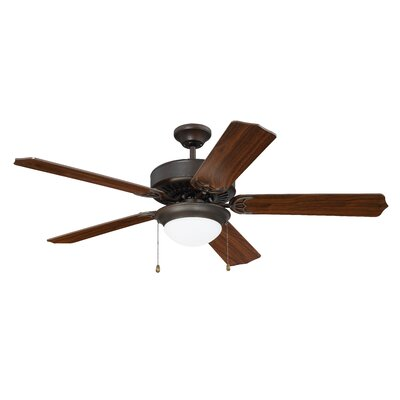 52 Ursa 5 Blade Ceiling Fan Finish: Aged Bronze Brushed with Walnut Blades