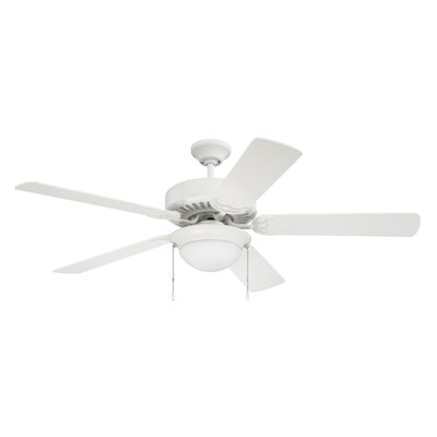 52 Ursa 5 Blade Ceiling Fan Finish: White