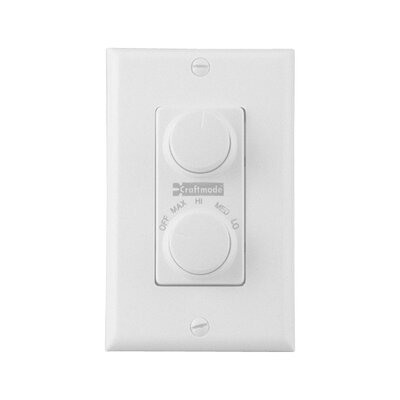Four Speed Dual Ceiling Fan Wall Control Finish: White