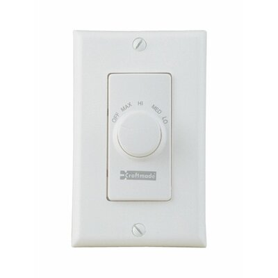 Four Speed Ceiling Fan Remote Wall Control in Almond Color: White