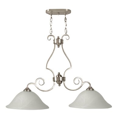 Jeppesen 2-Light Island Pendant Finish: Brushed Nickel