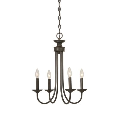 Spencer 4-Light Candle-Style Chandelier Finish: Bronze