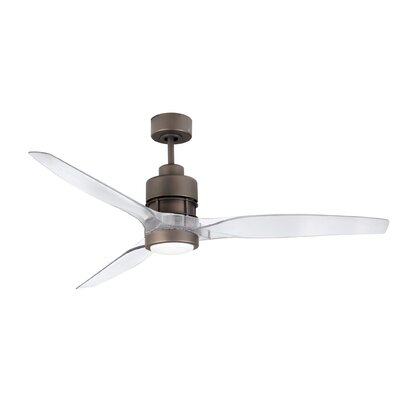 52 Spillman 3-Blade Ceiling Fan Kit Finish: Espresso with Clear Acrylic Blades