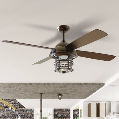 "56"" Concetta 4 Blade Outdoor Ceiling Fan with Remote DABY4080 39062749"