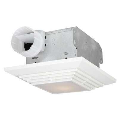 90 CFM Bathroom Ventilation Fan with Light in White