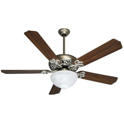 52 Jerseyville 5-Blade Ceiling Fan Finish: Brushed Nickel with Walnut Blades