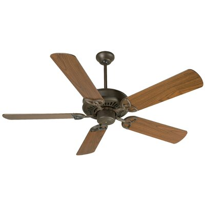 52 American Tradition 5-Blade Ceiling Fan Finish: Aged Bronze Textured with Walnut Blades