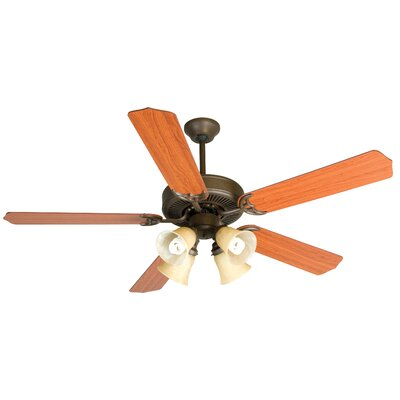 52 Palatine 5 Blade LED Ceiling Fan Fan Finish with Blade Finish: Aged Bronze with Cherry Blades