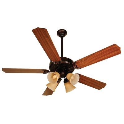 52 Palatine 5 Blade LED Ceiling Fan Fan Finish with Blade Finish: Oiled Bronze with Walnut Blades