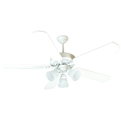 52 CD Unipack 205 5-Blade Ceiling Fan Finish: White