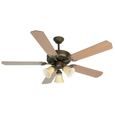 52 CD Unipack 206 5-Blade Ceiling Fan Finish: Aged Bronze with Washed Walnut Blades