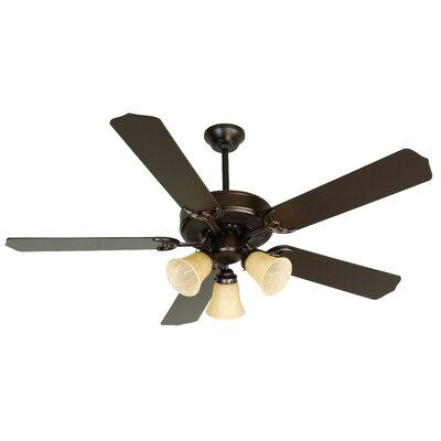 52 Palatine Traditional 5 Blade LED Ceiling Fan Finish: Oiled Bronze with Oiled Bronze Blades