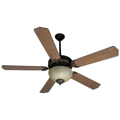 52 Palatine 5-Blade Ceiling Fan Finish: Oiled Bronze with Washed Walnut Blades