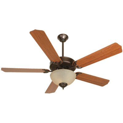 52 CD Unipack 208 5-Blade Ceiling Fan Finish: Oiled Bronze with Cherry Blades