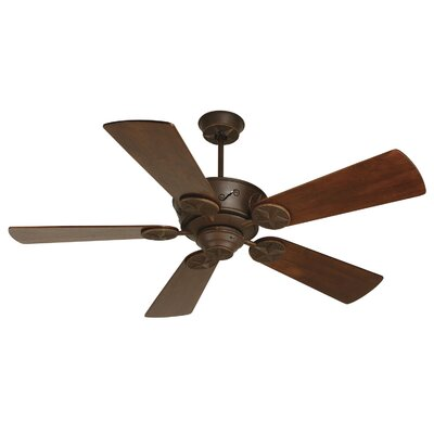 54 Osmond 5 Blade LED Ceiling Fan Fan Finish with Blade Finish: Aged Bronze with Walnut Blades