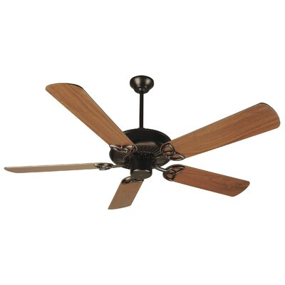 52 Holmstrom Traditional 5-Blade Ceiling Fan Finish: Oiled Bronze with Walnut Blades